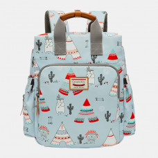 Women Light Weight Cartoon Large Capacity Backpack