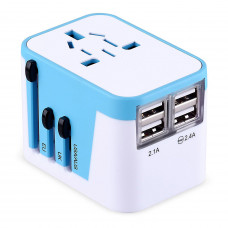 Power Plug Adapter International Travel -With 4 Usb Ports W