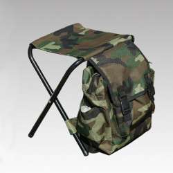 Men Casual Outdoor Backpack With Chair For Travel Camping