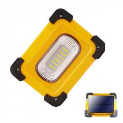 XANES 30A 60W 1200LM Solar/USB Rechargeable COB LED Work Light Magnetic LED Floodlight Spot Flashlight Power Bank