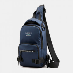 Men Fashion Light Weight Multifunctional Crossbody Bag Shoulder Bag Chest Bag Backpack With USB Charging Port