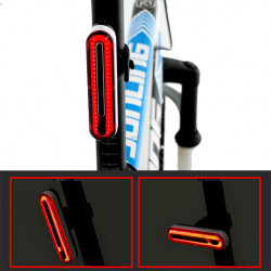 XANES TL40 37g Lightweight Waterproof Rechargeable Bike Tail Light Bicycle Warning Light For Night Safe Riding