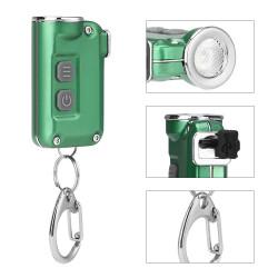XPG-2 380Lumens 4Modes USB Rechargeable Double Switch Key Chain Flashlight Mini LED Flashlight Outdoor Portable Flashlight
