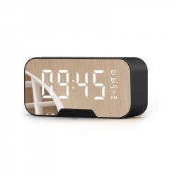 Bakeey G10 Mirror Clock Wireless bluetooth Subwoofer Speaker with Mic Support FM Radio TF Card