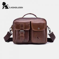 Men Genuine Leather Vintage Business Bag Crossbody Bag Handbag For Work