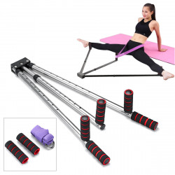 Adjustable Leg Stretch Extension Split Machine Flexibility Training Yoga Exercise Tools w/ Yoga Ropes