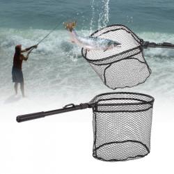 ZANLURE 81cm Aluminum Alloy Fishing Net Folding Soft Rubber Fishing Mesh Fishing Tools