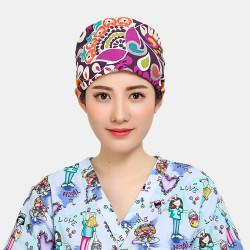 Floral Elegance - Tie-back Surgical Scrub Hat