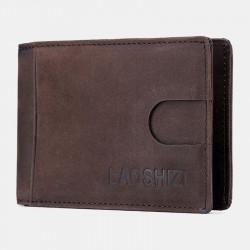 Men Genuine Leather Vinatage Thin Wallet Card Holder