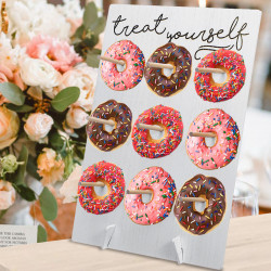 Donut Wall Hold Candy Sweet Stand Wooden Table Holder Wedding Decor Supplies DIY Decorations Holder