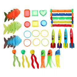 IPRee Diving Toys Set Diving Training Toys Underwater Dive Ring Sticks Swim Fun Toys Kids Beach Swimming Pool Game Gift Lot