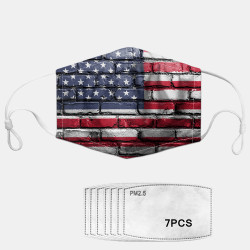 7-piece Gasket Set PM2.5 Masks National Flag Dust Masks