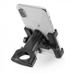 ROCKBROS D-S101 Aluminum Alloy 4.5-6.8in Phone Holder Adjustable Phone Clip Stand Shockproof Phone Bracket Cycling