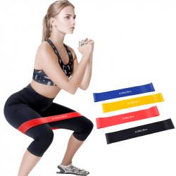 3Pcs/Set 20lb+30lb+40lb Yoga Resistance Bands Stretching Rubber Loop Exercise Pilates Fitness Equipment