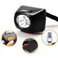 BIKIGHT 3W 4500LM Miners Cordless Power LED Helmet Light Bike HeadLamp Lamp Torch