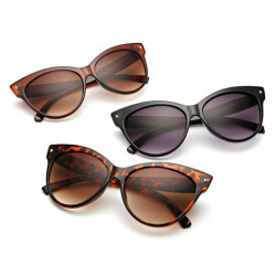 Women Cat Eye Vintage Polarized Leopard Sunglasses Classic Style UV400 Protection