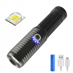 XANES W577 P50 Super Hightlight Flashlight 18650 Battery USB Charging Waterproof 4 Modes LED Light