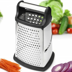 Mulit function Kitchen Vegetable Fruit Peeler Professional Vegetable Cutter Stainless Steel 4 Sided Grater Slicer Cheese Kitchen Gadgets Accessories