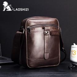 Men Genuine Leather Caasual Phone Bag Crossbody Bag Shoulder Bag For Business Daily