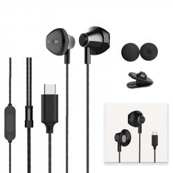 Langsdom F9T Digital Type-C Earphone Earbuds Super Bass Hifi Headphone with HD Mic for Samsung S8 S9 Huawei P20