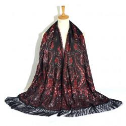 Retro Ethnic Style Print Tassel Long Scarf Ladies Russian Scarf