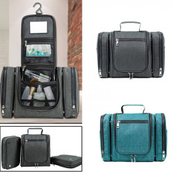 IPRee 3 In 1 Detachable Waterproof Wash Bag Travel Portable Hanging Makeup Storage Bag