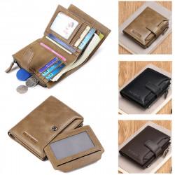 Men Genuine Leather Wallet Card Holder