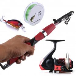 ZANLURE Fishing Rod Reel Combo 100cm Fishing Line Fishing Lure Outdoor Fishing Kit Set