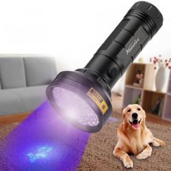 AloneFire 68LED 9W 50M 395nm UV Light  IP65 Waterproof LED Flashlight AA Flashlight