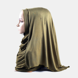 Hijab Amira Islamic Solid Soft Scarf Mercerized Cotton Long Hejab Head Shawls