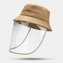 Collrown Adjustable Sun Hat With Large Eaves Anti-fog Removable Hat Bucket Hat