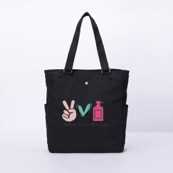 Women Sanitizer Printed Bag Casual Canvas Shoulder Bag Handbag