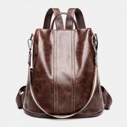 Women Anti-theft Waterproof Soft Large Capacity Backpack Crossbody Bag