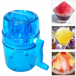 Portable Hand DIY Ice Shaver Crusher Shredding Machine Manual Snow Cone Maker