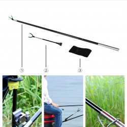 YEUX 360 Rotatable Fishing Telescopic Carbon Rod Support Rod Holder Outdoor Fishing Tools from xiaomi youpin-1.2m/2.1m