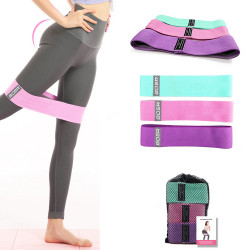 3pcs 90/120/150LB Elastic Resistance Bands Set Home Gym Yoga Pull Band Strength Training Fitness Belt