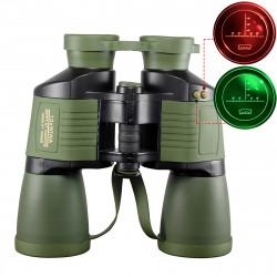 10x50 Outdoor Tactical Binocular Night Vision Reconnaissance Coordinates Binoculars BAK4 Prism HD Blue Film Telescope