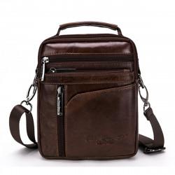 Men Genuine Leather Shoulder Bag Business Messenger Satchel Crossbody Bag