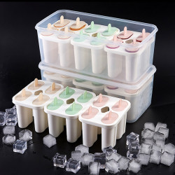 Baby Kids Family Reusable Frozen Ice Mold Homemade DIY Ice Cream Yogurt Juice Fruit with Lock Lids