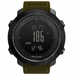 North Edge Apache 3 Waterproof Men's Military Sport Digital Barometer Barometer Smart Watch