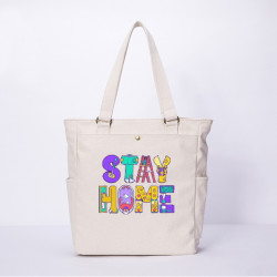 Women Anti-epidemic Character Casual Canvas Shoulder Bag