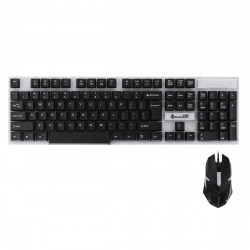 104Key RGB Backlit Wired Mechanical Gaming Keyboard and 1600 DPI Gaming Mouse Set for PC Laptop