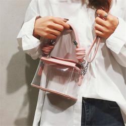 Women Clear Transparent Handbag PVC Shoulder Bag Crossbody Candy Tote Purse