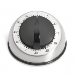 60 Minute Stainless Steel Cooking Kitchen Timer Mechanical Clock Countdown Alarm