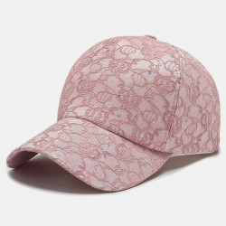 Women Fashionable Lace Baseball Cap Breathable Sequin Sun Hat