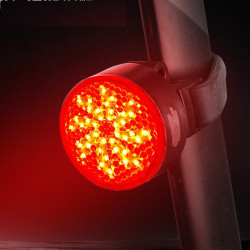WEST BIKING 40LM IPX4 Waterproof COB Bike Tail Light 2 Modes USB Charging Warning Bike Light
