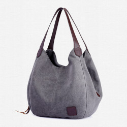 Women Vintage Ladies Large Canvas Handbag Travel Shoulder Bag Casual Tote