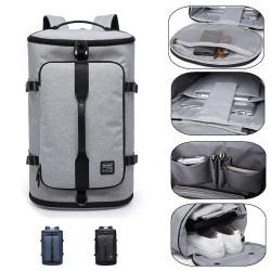 KAKA-2202 Men Travel Backpack 15.6inch Laptop Bag Shoulder Bag Climbing Camping Fitness Rucksack