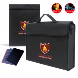 Waterproof Fire Resistant Document Bag Waterproof File Bag Protection Cash Money File Passport Pouch