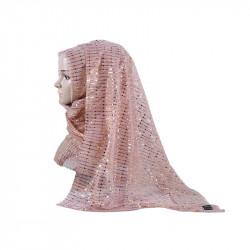 Women Ethnic Style Scarf Sequin Hijab Chiffon Scarf